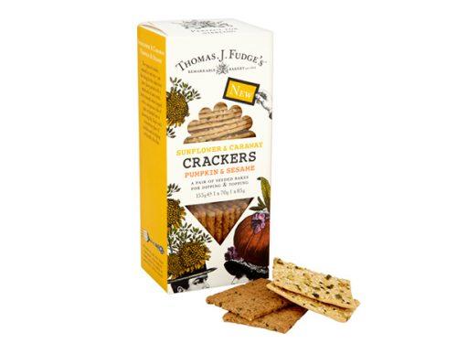 Thomas J Fudge's Sunflower & Caraway/Pumpkin & Seame Crackers